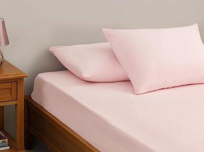 Deco Milano, Hoeslaken, Licht Roze,100x200/30/   100% Katoen, Incl. 1x kussenslopen,